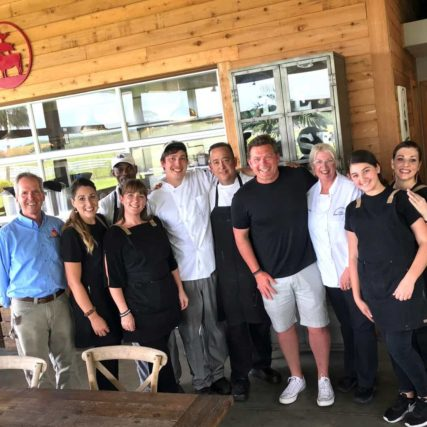 Tyler Florence at Rosy Tomorrows Heritage Farm