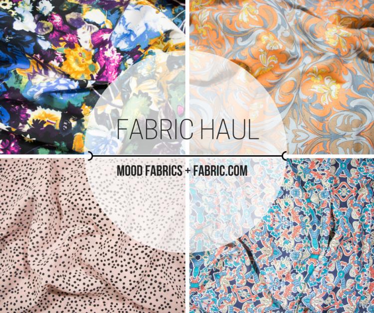Fabrics Haul - Mood Fabrics + Fabric.com - Rosy | Peña
