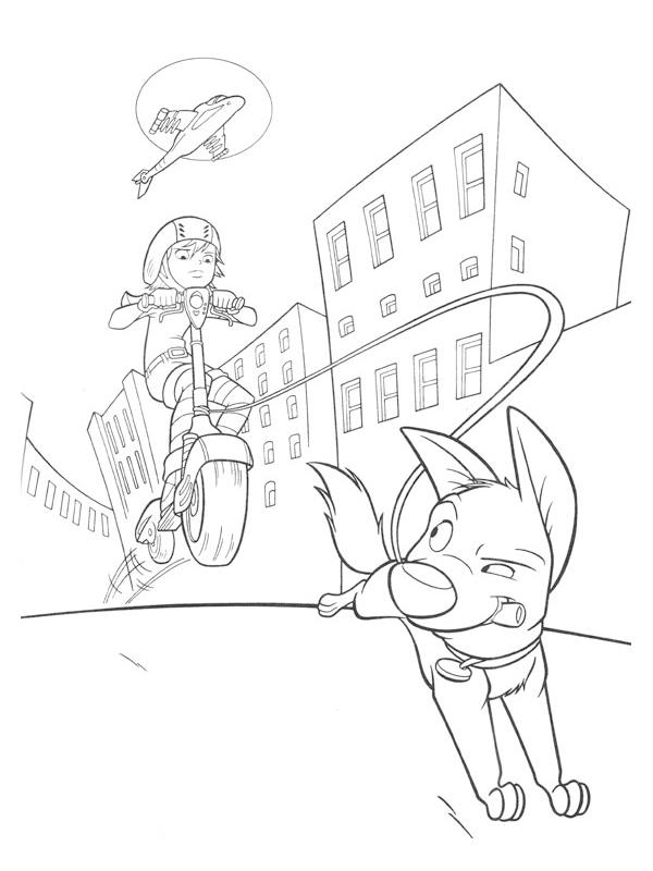 Desenhos para imprimir e colorir de Bolt O Super Cão