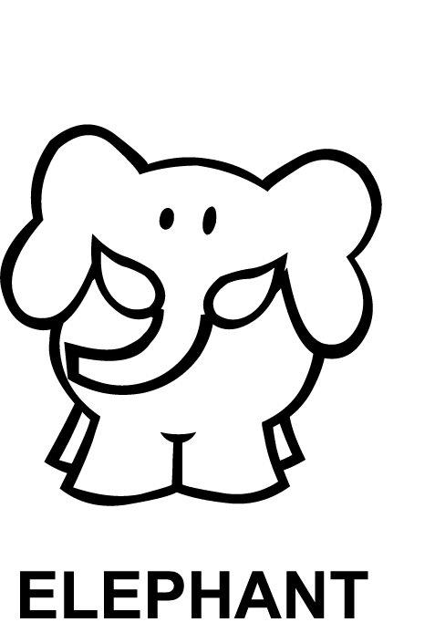 Desenho De Letra E De Elefante Para Colorir