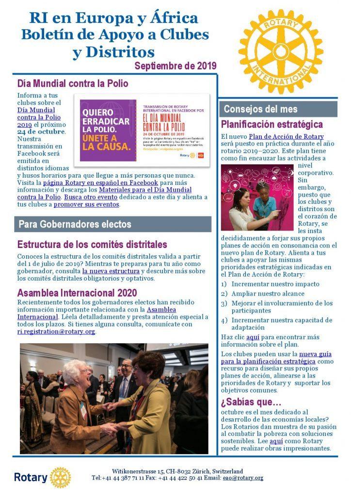 CDS Newsletter - Septiembre de 2019