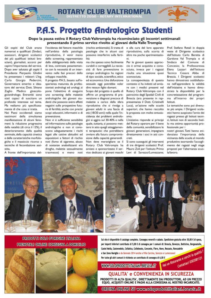 Ventesimo anniversario del Rotary Club Valtrompia