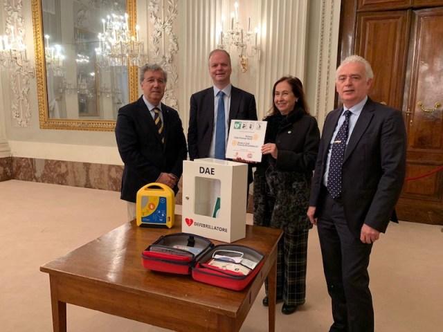 da sin. Mario Maida, Eike Schmidt, Antonia Antinolfi, Maurizio Catolfi a Palazzo Pitti 2