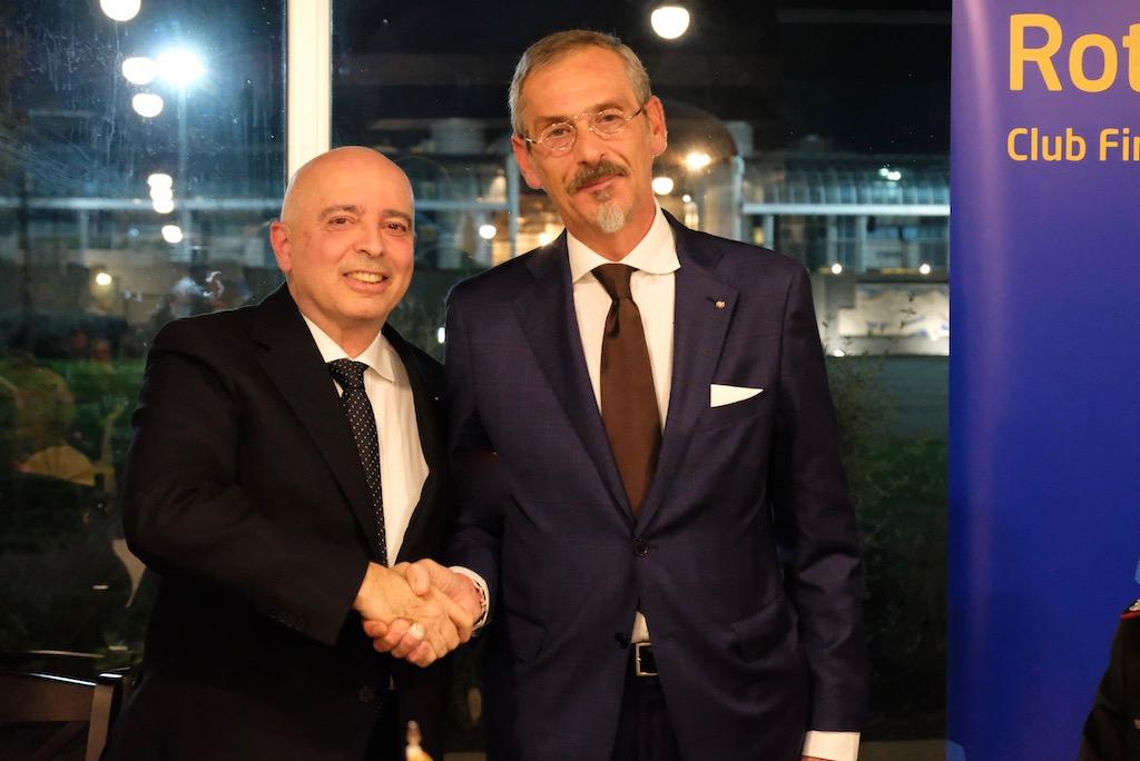 Maurizio Francini (a destra) nuovo socio del Rotary Firenze Nord