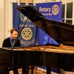 ll musicista Simone Graziano ai Rotary Firenze Certosa e Firenze Nord