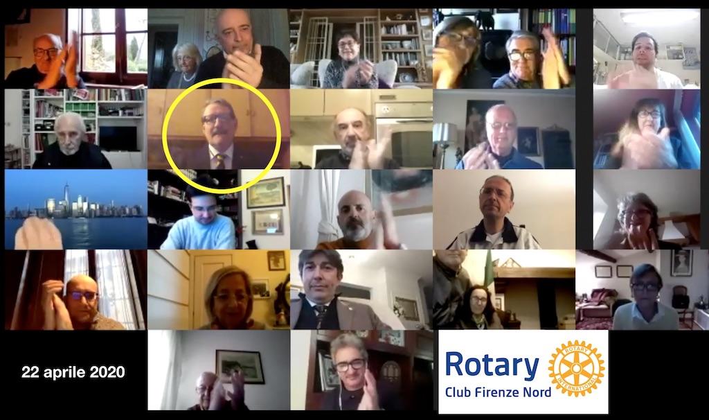 La riunione online del Rotary Firenze Nord del 22 aprile 2020
