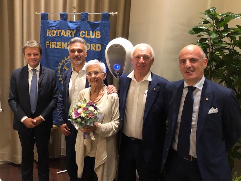 da sin. Leonardo Bandinelli con Luca, Anna, Carlo Lastrucci e Marco Parducci