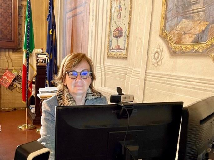 Il prefetto di Firenze Alessandra Guidi durante l'interclub dei Rotary