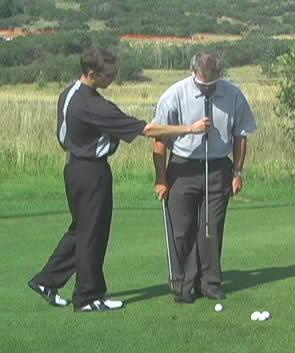 chip shot setup in golf