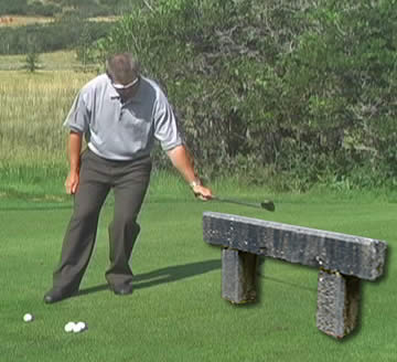 chip better in golf by bench