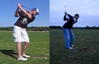 golf backswing overswinging fix