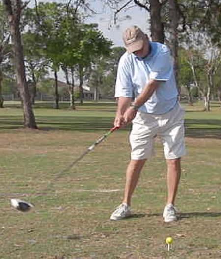 golfer with slow swing speed