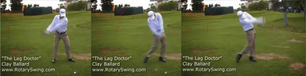 Kevin Streelman does a great job of creating this wide-narrow-wide swing shape we're talking about. Notice how he keeps the right arm nice and straight and gets a great shoulder turn during the takeaway.