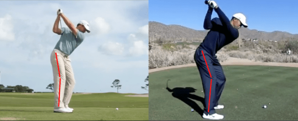 When done correctly, loading the right leg in the backswing  can make a huge difference in how you get your weight back to the left side in the downswing.