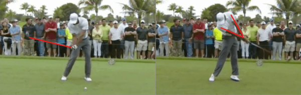 Tiger Woods' swing has a lot of good things going on in it. This picture perfectly illustrates how he uses lag and the release in golf to generate effortless power