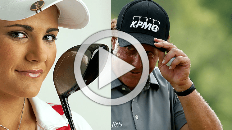 Lexi Thompson and Phil Mickelson powerful golf swing