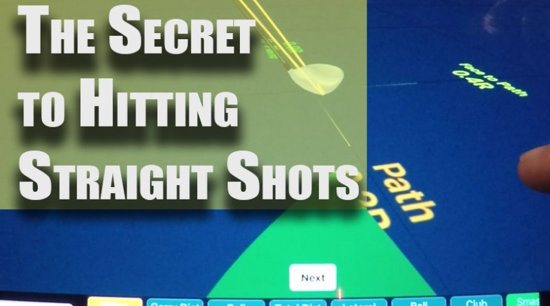 secret to straight golf shots