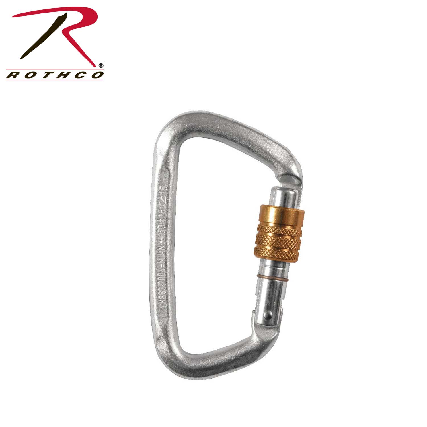 Rothco Hard Steel Modified D Key Screw Gate Carabiner