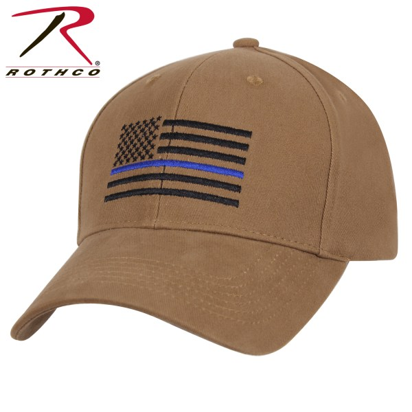 4b7c9516e07 Rothco Thin Blue Line Flag Profile Cap