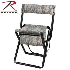 Portable Hunting Chair Dining Table Set 6 Chairs Rothco Deluxe Camo Stool With Pouch Back