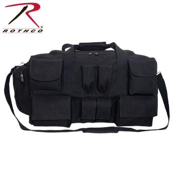 Rothco Canvas Pocketed Military Gear Bag
