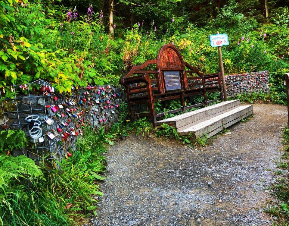 Gabionen-Wandertipp: Der Liebesbankweg im Hahnenklee (Harz)