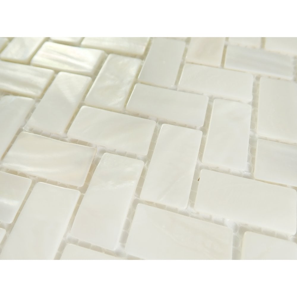 incudo white mosaic mother of pearl tile