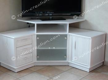 tv chair ikea folding decorative covers meuble d'angle hifi colombo avec rangement - et
