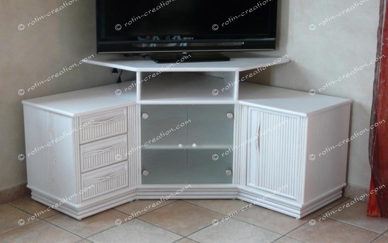 Meuble Dangle Tv Hifi Colombo Avec Rangement Meuble