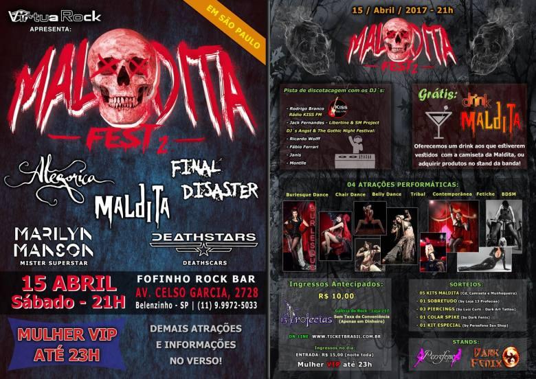 Dica de evento em SP - Maldita Fest 2 - 15/04