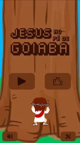 Fizeram um jogo do Jesus no pé de goiaba