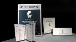 Campagna Associazione Via dei Coronari - Organizzazione percorso espositivo, Premio giornalistico, mostra mercato- Mezzi Stampa quotidiana, periodica, di settore Internazionale - Radio - Affissione Promotional