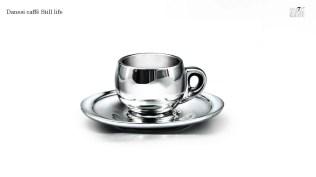 Produzione: realizzazione still life tazzina argento modello Danesi Caffè
