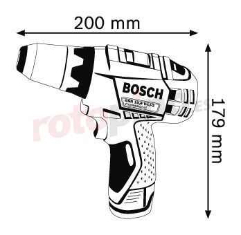 Taladro atornillador + accesorios Bosch GSR 10,8 V-LI-2
