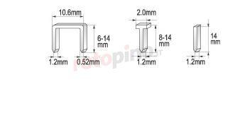 Graffatrice 6-14 mm /1,2/ Yato YT-7003