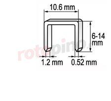 Graffatrice 6-16 mm /1,2/ Yato YT-7005