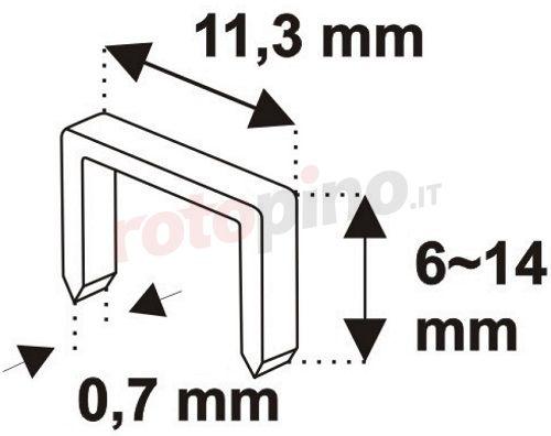 Graffatrice manuale Dedra 11Z002