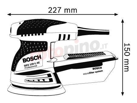 Levigatrice rotoorbitale Bosch GEX 125-1 AE