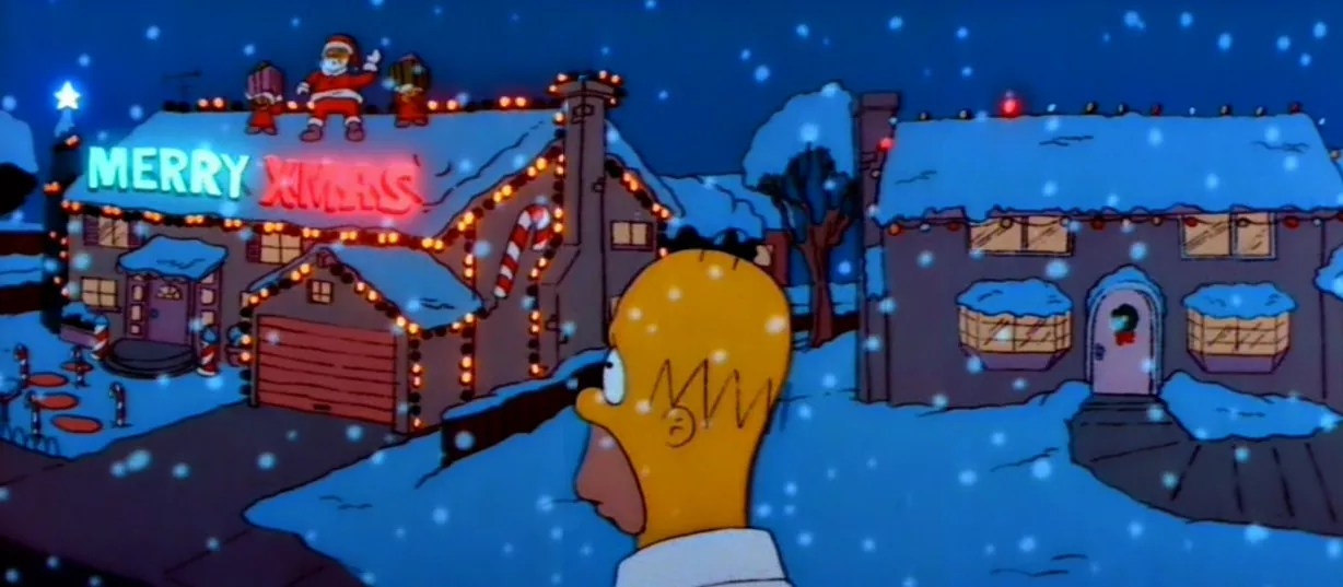 Image result for Christmas Lights simpsons