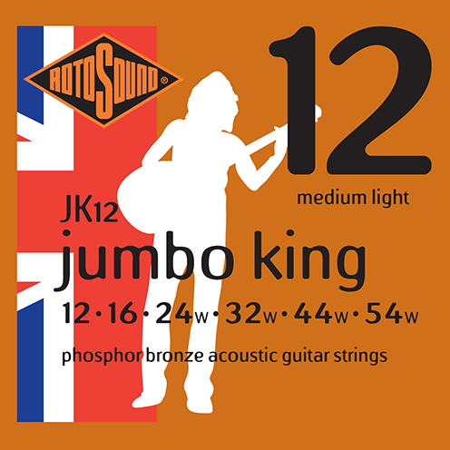 jk12 Rotosound Jumbo King Acoustic phosphor bronze guitar strings long life platinum flattop string