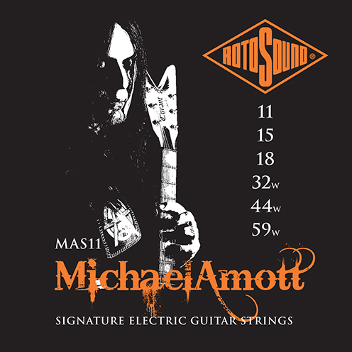 MAS11 Rotosound Roto Michael Amott Signature MAS 11 Nickel regular medium Light Top Heavy Bottom Hybrid Gauge Electric Guitar Strings giutar guage stings srings rock palm muting 11-59 drop tuning metal rock