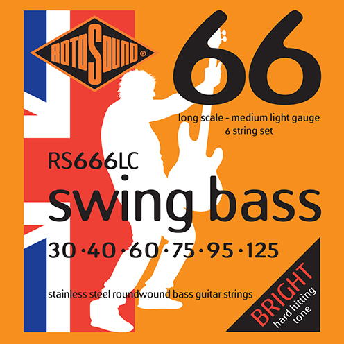 6 string Rotosound RS666 LC Swing Bass strings. Steel roundwound round wound swingbass bass wire precision jazz Rickenbacker 4003 John Entwistle bajo guitare rock metal standard gauge regular bright