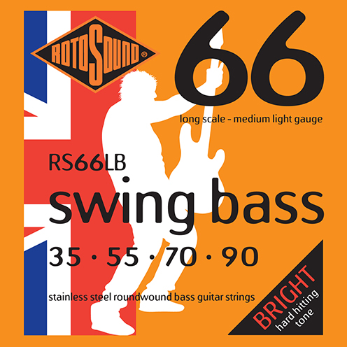 Rotosound RS66 LB Swing Bass strings. Steel roundwound round wound swingbass bass wire precision jazz Rickenbacker 4003 John Entwistle bajo guitare rock metal standard gauge regular bright