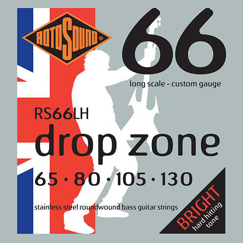 Rotosound Drop Zone RS66LH 65-130 Foil Swing Bass low tuned electric bass guitar strings set