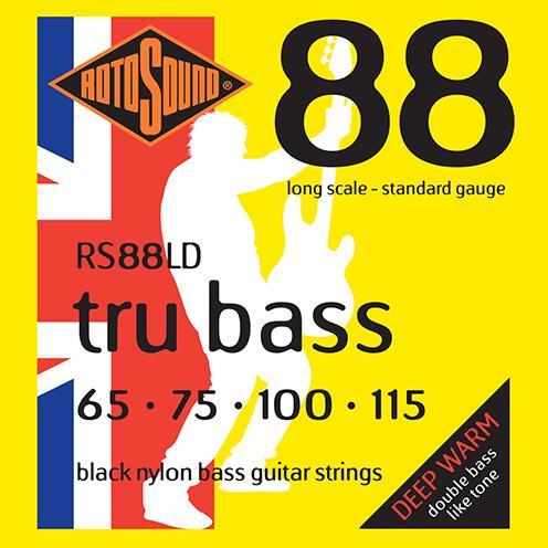 rs88ld Rotosound Tru Bass guitar strings black nylon yellow silk double doublebass tone sound paul mccartney low tension fretless dub reggae