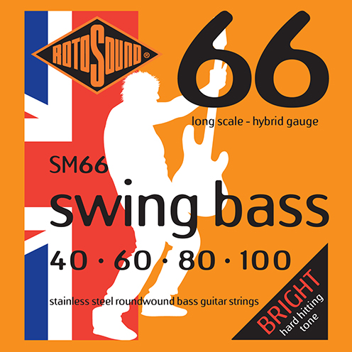 SM66 strings hybrid gauge Swing Bass 66 5string bass guitar set of string 40 125 gauge bright stainless steel tone roundwound round wound guage medium 40 100