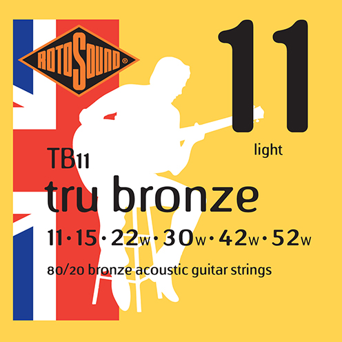 tb11 Rotosound Tru Bronze acoustic 80/20 bronze brass guitar strings flattop string