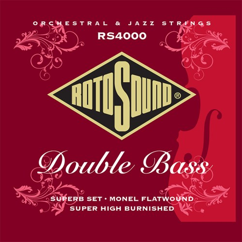 RS4000 Rotosound double bass strings. Monel flatwound high burnished traditional upright bass strings rockabilly