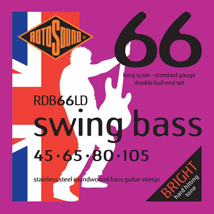 RDB66LD Double Ball End double ballend doubleball Rotosound RDB66 LD Swing Bass strings. Steel roundwound round wound swingbass bass wire precision jazz Rickenbacker 4003 John Entwistle bajo guitare rock metal standard gauge regular bright