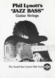Phil Lynott Thin Lizzy Jazz Bass strings advert bad reputation tour 1977 Rotosound archive
